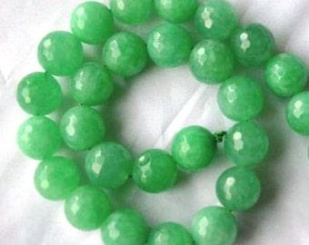 14 JADE Gemstone Beads 14mm - COD8655
