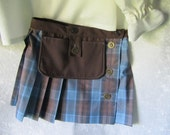 On Sale - Child's Highlander Scottish Kilt: All Cotton fabric, Size 5 - 6 years old, Ready To Ship Now