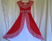 On Sale - Girl's Elena Of Avalor Dress From Sophia The First: All Cotton Fabric, Dress And Belt, Size 2 to 3 Years Old, Ready To Ship Now