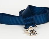Crew LaLa™ Navy Naked Webbing Dog Leash