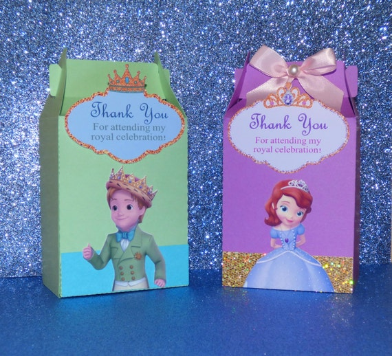 Sofia the First Favor Boxes Favor Bags Prince James Favor : il570xN7651832991onp from www.etsy.com size 570 x 518 jpeg 119kB