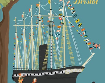Bristol Greetings Card - The SS Great Britain