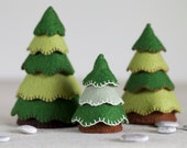 Felt Tree Sewing Pattern – DIY embroidery sewing pattern for felt toy trees – Woodland soft toy tutorial