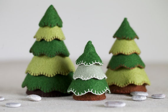 Felt Tree Sewing Pattern Diy Embroidery Sewing Pattern For