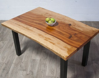 YOUR CUSTOM Rare Pacific Madrone Desk, Coffee or Small Dining Table- Live Edge - Natural - Seattle