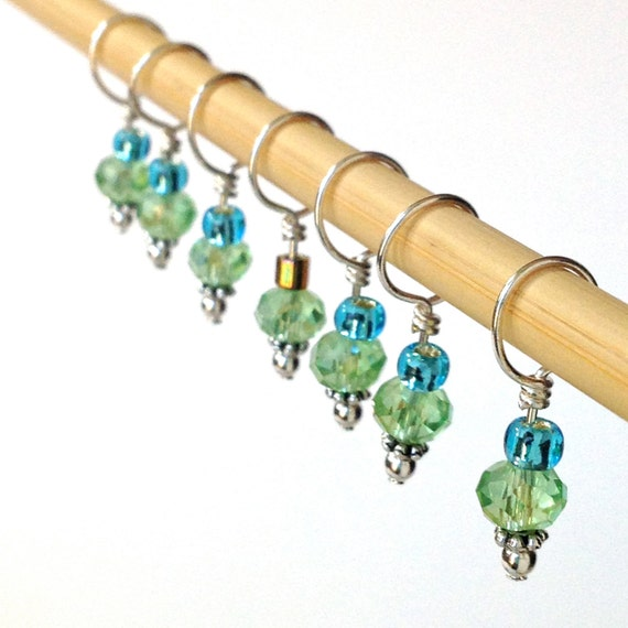 Decorative Knitting Stitch Markers : Stitch Markers Decorative Knitting Stitch Markers Green