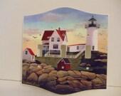 Cape Neddick Lighthouse Art Print on Tripple Switch Plate