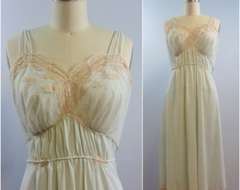 Beautiful Gown 40s era  Artemis Pale Seafoam Green HIgh End Lingerie