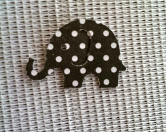 50 black with White polka dots  Modern Elephant Decor  Baby Shower Confetti, Birthday party ,scrapbooking, cards