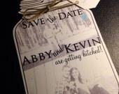 Mason Jar save the dates, Wedding Save the Date Cards, Weddings, Save the Date, Country Wedding