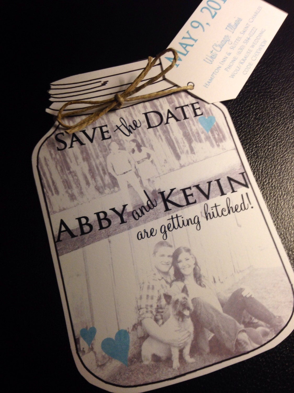 Mason jar save the dates wedding save the date cards for Save the date wedding