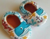 Nautical Theme Baby Booties Size 0-3 months