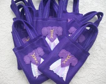 RAPUNZEL PARTY BAGS/ Set of 12 party bags/felt bags/party supplies/party favor