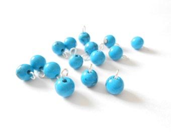 Turquoise Blue Dangle Beads