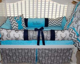 Michael Custom 9 Pc Baby Bedding Crib Set By Babiesnbaubles
