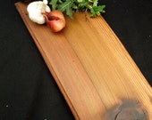 Natural Rustic Wood Serving Platter, OOAK, reclaimed figured Thuja Plicata Western Red Cedar, gorgeous
