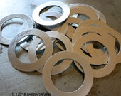 1 1/2 Inch Aluminum Washers, 20 Round Washers for Stamping, 20 Gauge Aluminum, Bulk Lot, Ready to Ship!