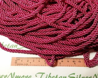 9 Ft. per pack of 5mm Shiny Cotton Rope Cord in Fuchsia