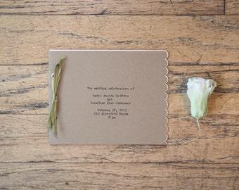 Scalloped Wedding Program Booklet