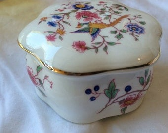 Hammersley Bone China Trinket Box Asian Pheasant