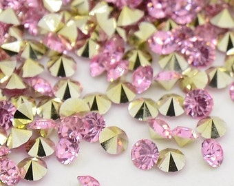 24 rhinestones SS23, resin, Ø5mm, light pink, round