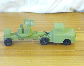 Vintage Rubber Military Radar Truck