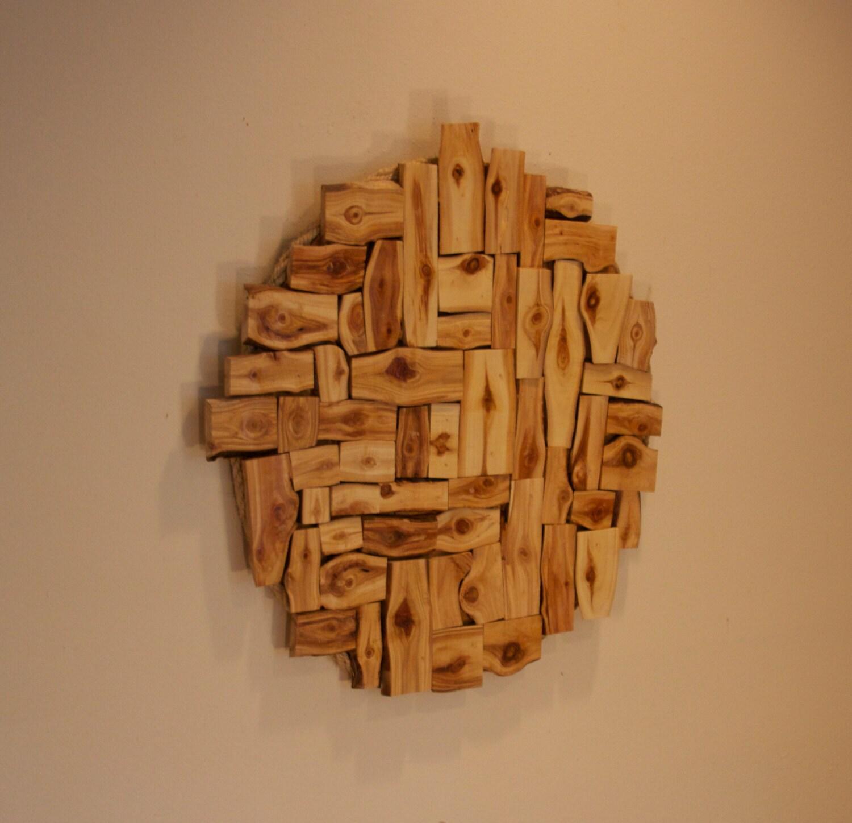 Aspen wall sculpture wood wall art modern rustic decor for Aspen logs for decoration