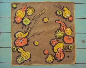 Vtg. Jeanne Miller Hanky Fall Gourds