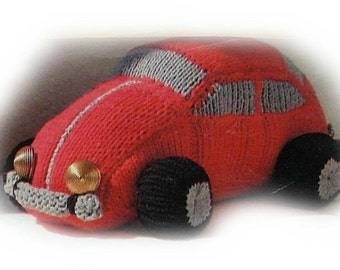 VOLKSWAGEN toy knitting pattern PDF DOWNLOAD