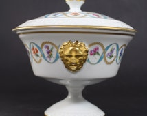 Limoges France Porcelain Covered Dish