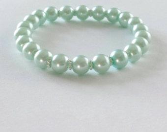 Mint Green Pearl Bracelet