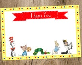 Children's Book Themed Baby Shower Thank You card- Collection Featured on HWTM Blog- INSTANT DOWNLOAD
