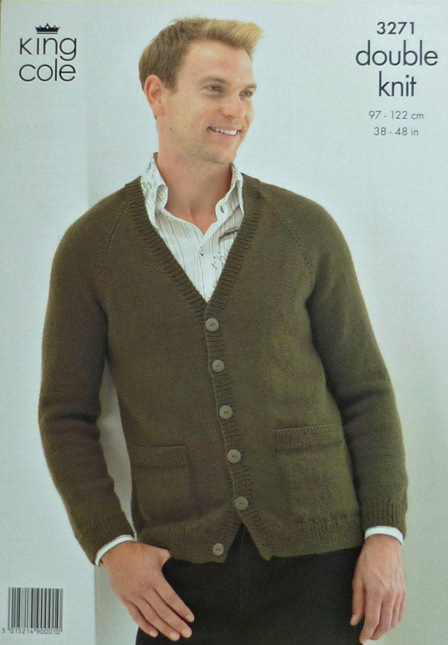 Mens knitting pattern k3271 mens v neck cardigan with pockets mens sold by knittingpatterns4u bankloansurffo Image collections