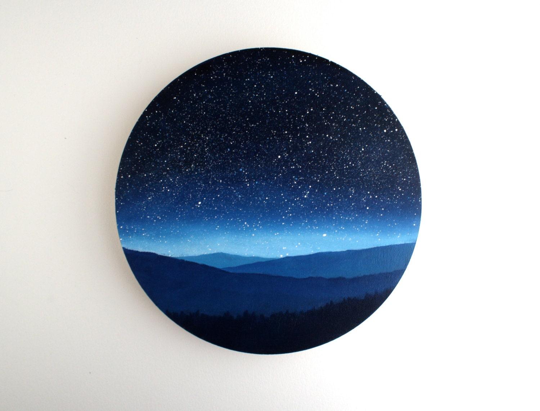 Fairy Lights Bedroom Night Sky Circle Oil Painting