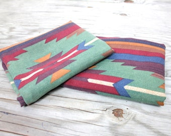 Vintage Set of 4 Aztec Tribal Pillowcases Geometric Set