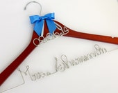 Wedding Dress Hanger with Date Charm, Bride Hanger, Wedding Date Hanger, Wedding Gift, Dress Hanger