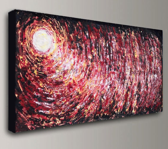 red painting home decor abstract painting acrylic painting art