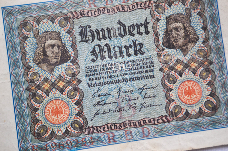 Antique 1920 German paper money.100 by CockroachShop on Etsy  Antique 1920 Ge...