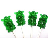 100 YODA GUY LOLLIPOPS - Select up to 3 colors and 3 flavors