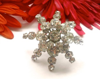 Twinkling Star Rhinestone Brooch Vintage Fashion Jewelry