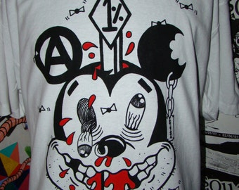 impaled mickey seditionaries shirt (color) by addicted to chaos