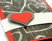 Valentine Gift Card Holder, I Love You Card, Handmade Valentine's Day Card, Husband Valentine, Anniversary Money Gift