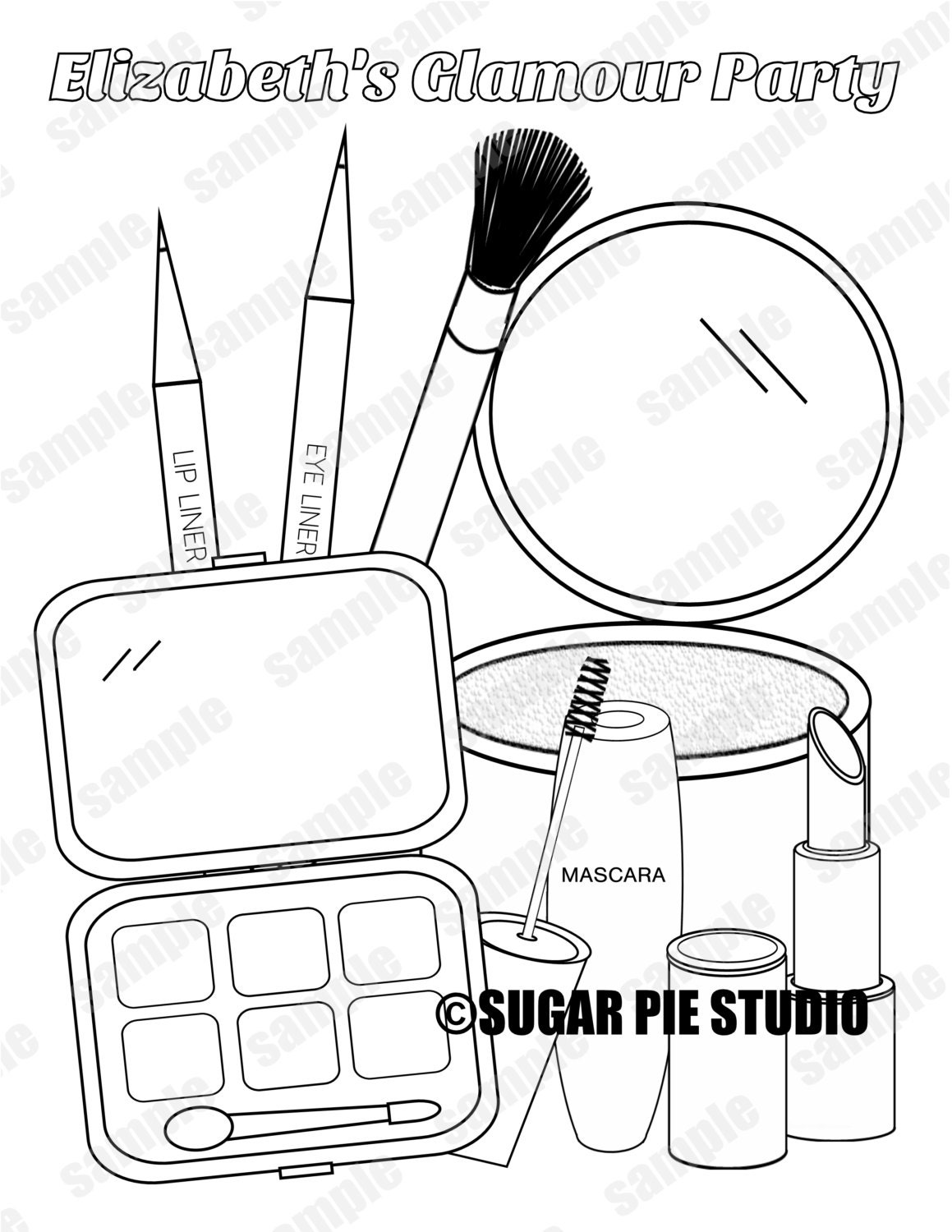 spa party coloring pages - photo#9