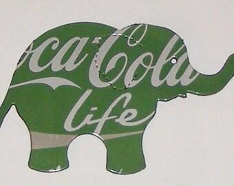 Elephant Magnet -  Green Coca-Cola Life Soda Can (Replica)