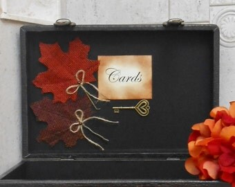 Leather Suitcase Wedding Card Box / Wedding Card Holder / Fall Wedding / Autumn Wedding