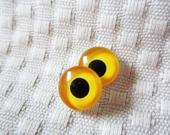 Owl glass eyes12mm cabochons for sculpture and crafts