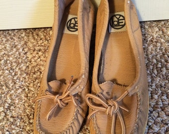 60s-70s Moccasin Wedge Clogs