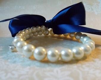 Bridesmaids Wedding Bracelet Simple Pearl Bridesmaids Jewelry Romantic Wedding Jewelry Single Strand Pearl Bracelet Bridal Party Bracelet