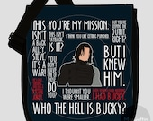 Bucky Barnes / The Winter Soldier messenger bag (Made to order - 2 sizes available)
