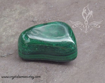 Malachite Tumbled Gemstone Crystal - Large Size 37mm (MAL0019)